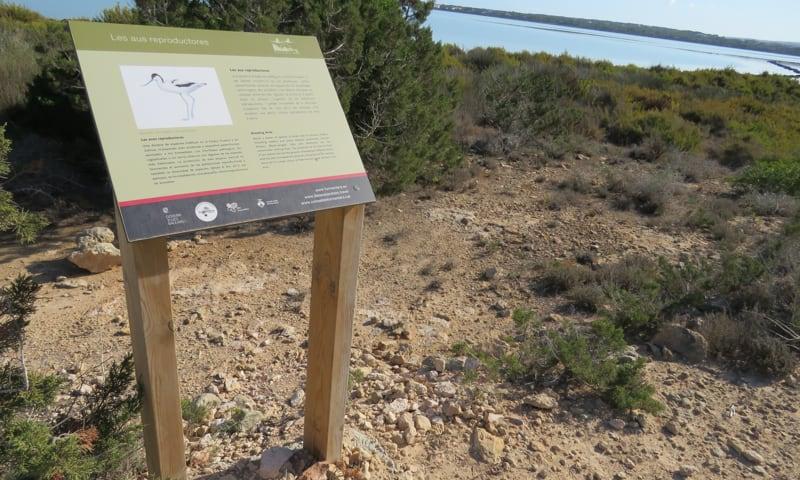 señalización de ruta en Formentera